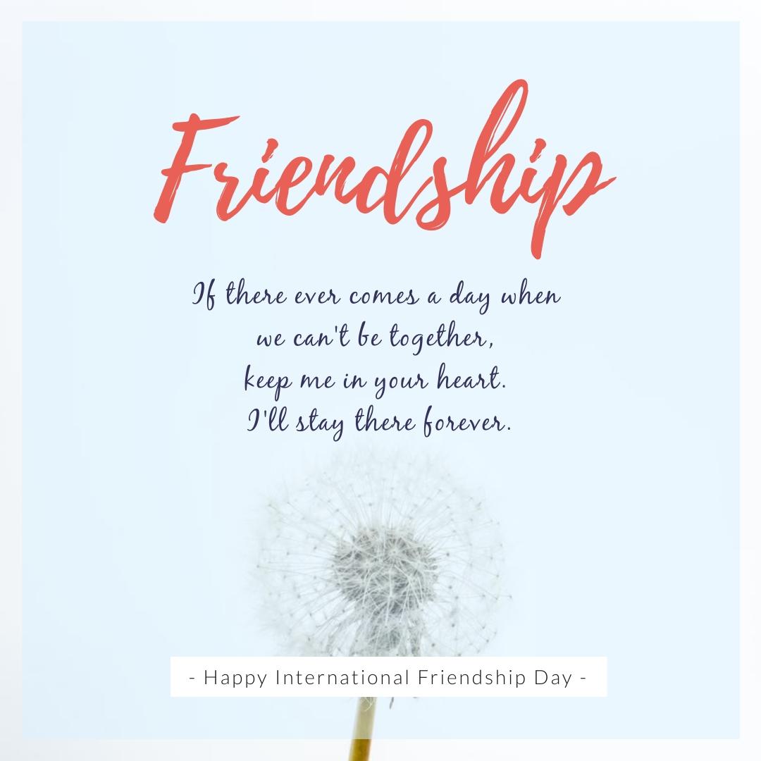 Friendship Day Quote Dandelion Square Template