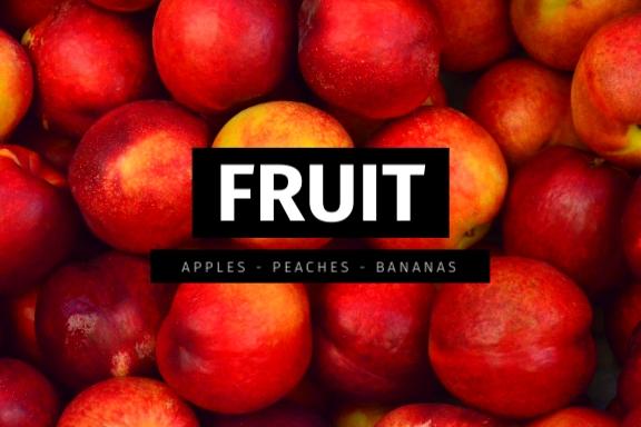 Fruit Drawer Label Template