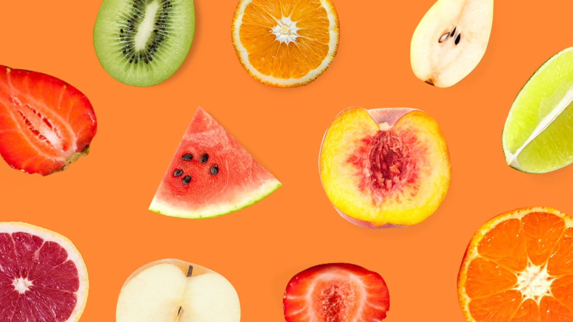 Fruits - Zoom Background Template