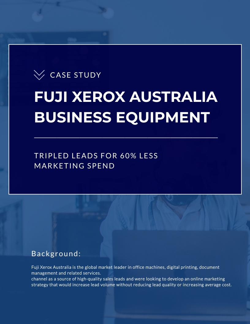 Fuji Xerox Australia Business Equipment Case Study Template