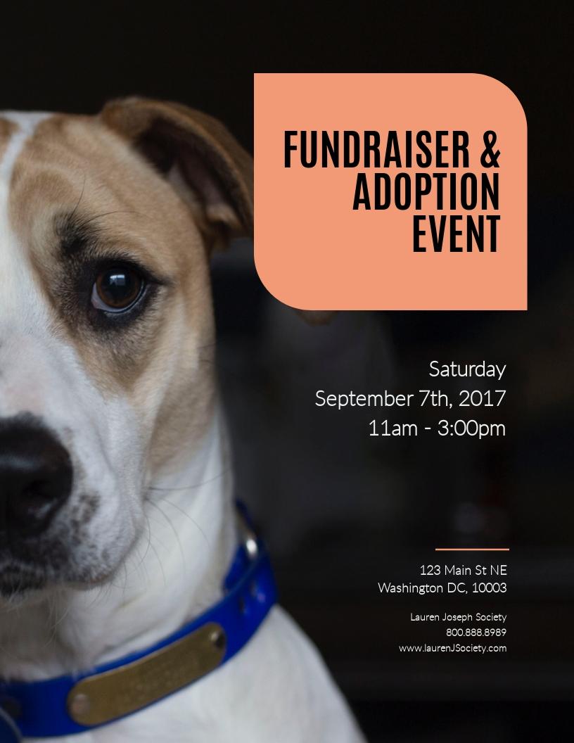 Fundraiser & Adoption Event - Flyer Template