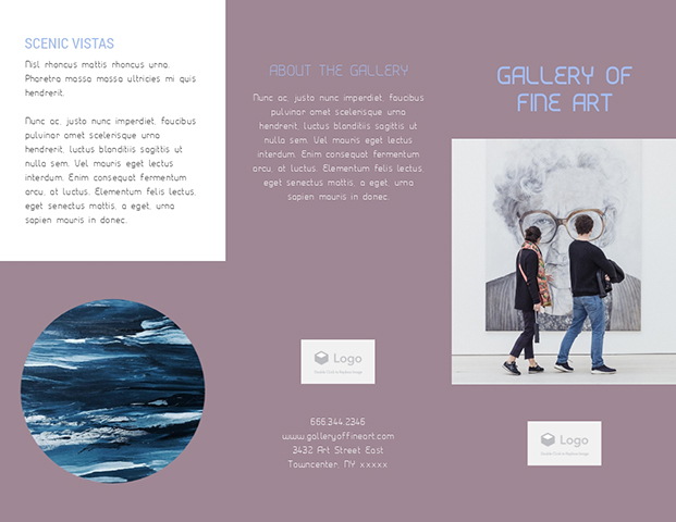 Gallery of Fine Art - Trifold Brochure Template