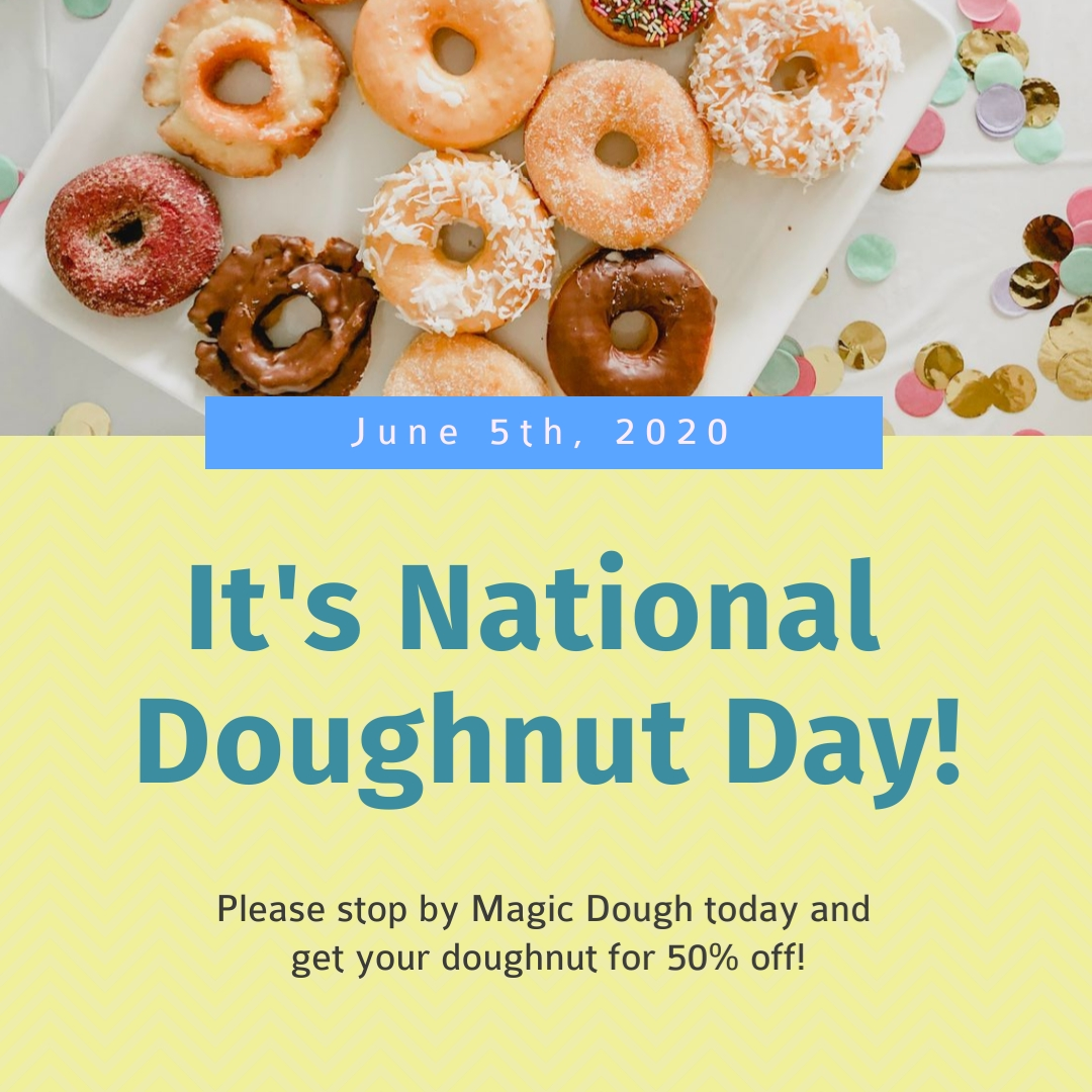 Get Discounts on Doughnut Day Square Template