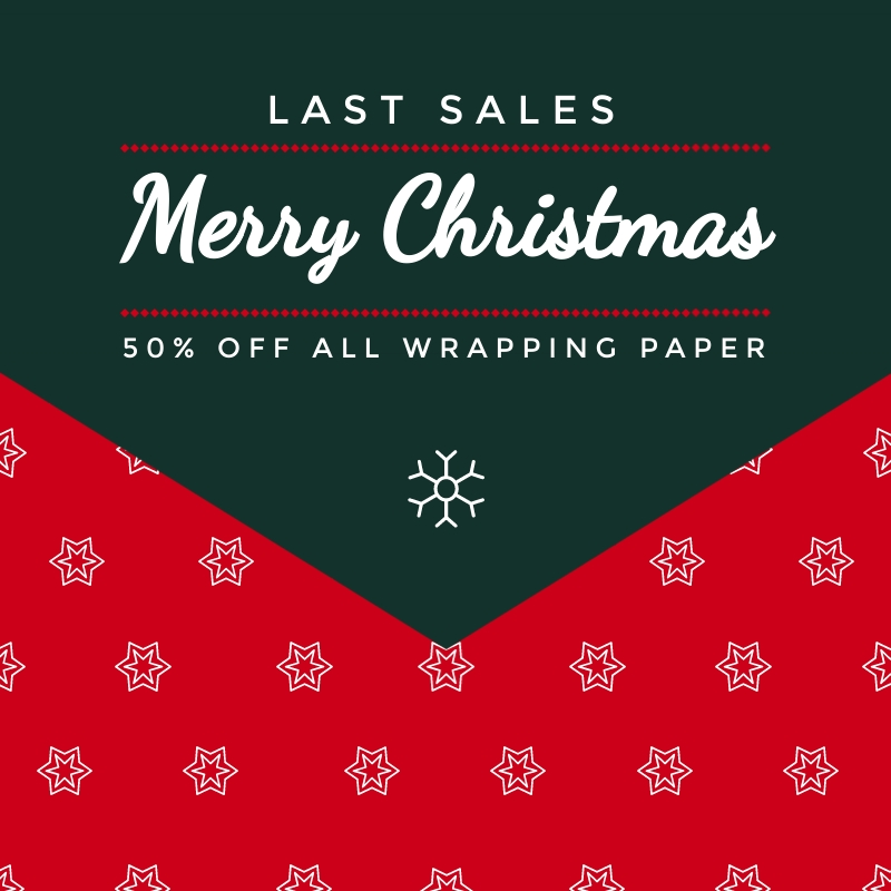 Gift Wrap Sales Blog Graphic Medium  Template