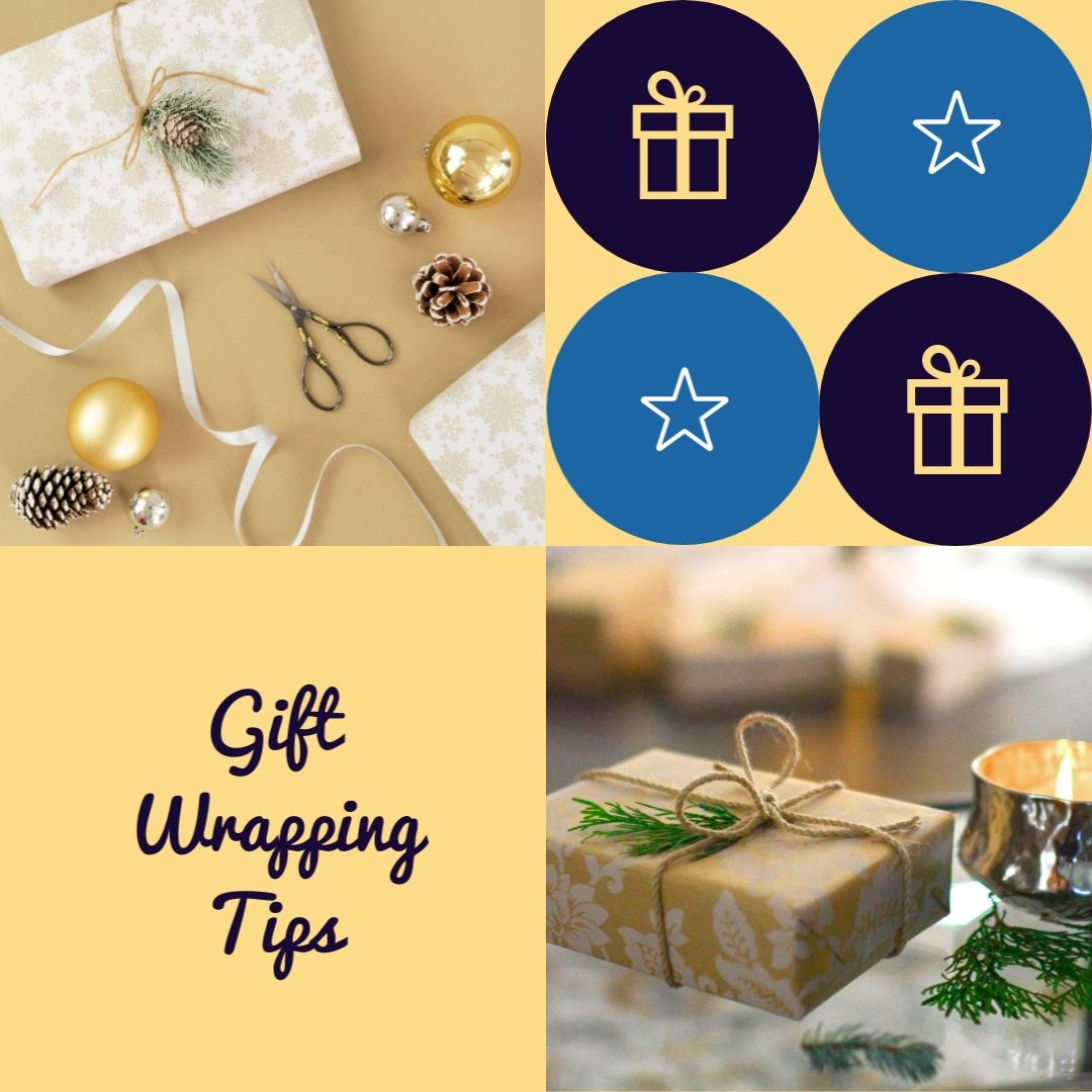 Gift Wrapping Tips Animated Square Template