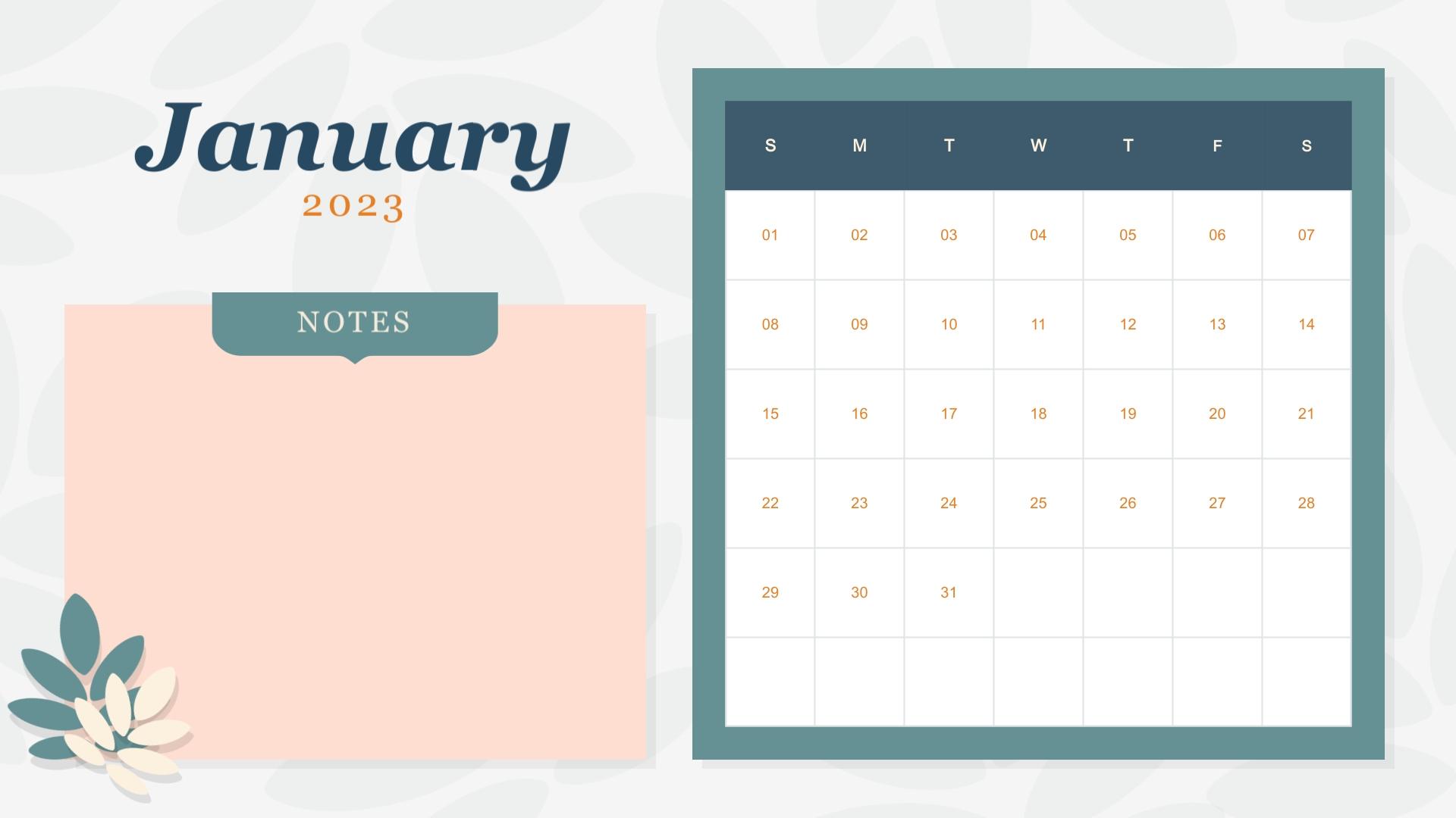 Girly Pattern - Calendar Template