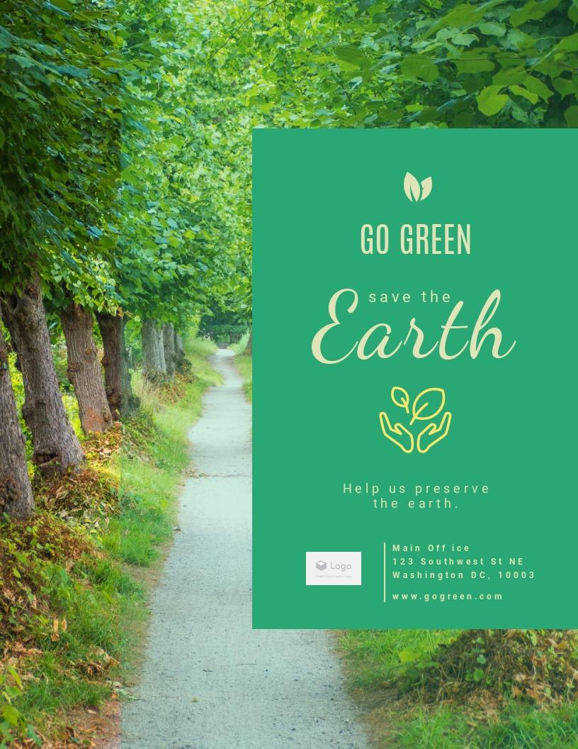 Go Green - Flyer Template