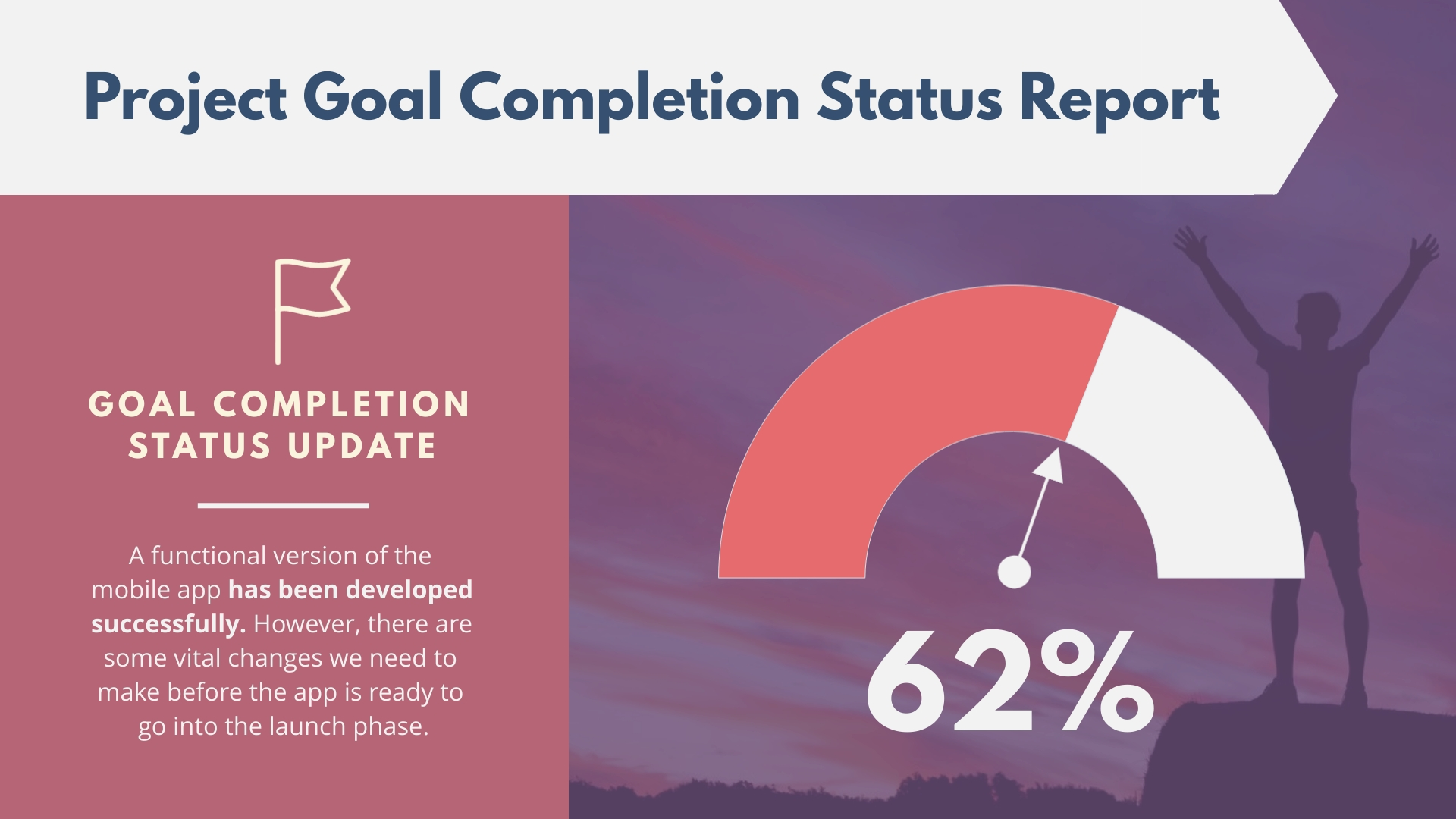 Goal Completion - Gauge Chart Template