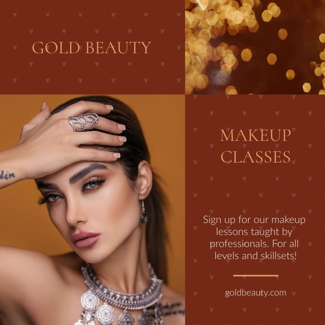 Gold Beauty Animated Square Template