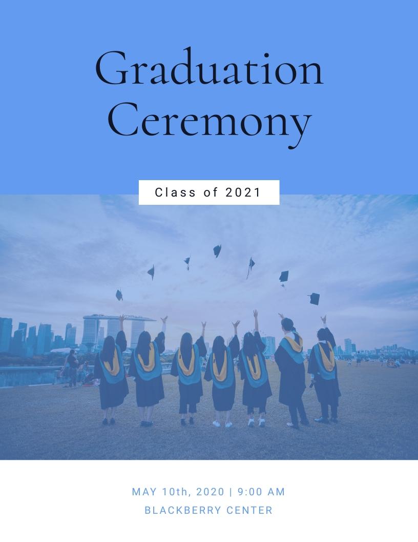 Graduation Ceremony - Event Program Template