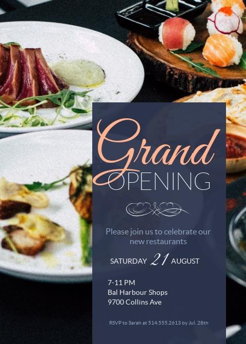 Grand Opening Invitation - Invitation Template