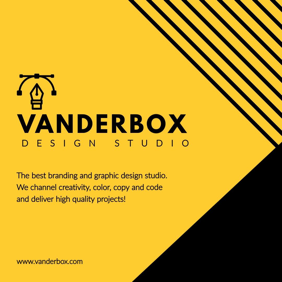 Graphic Design Studio Animated Square Template