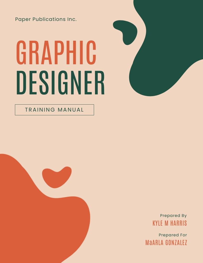 Graphic Designer - Training Manual Template