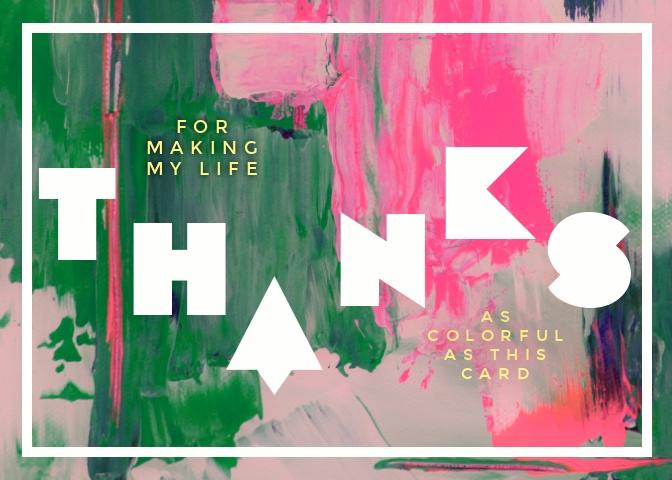 Grateful Greeting Card Template