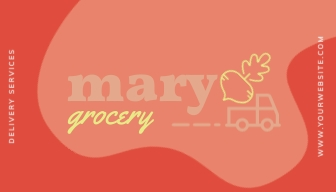 Grocey Delivery Service Loyalty Card Template