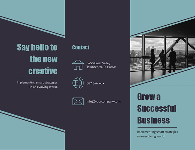 Grow a Successful Business - Trifold Brochure  Template
