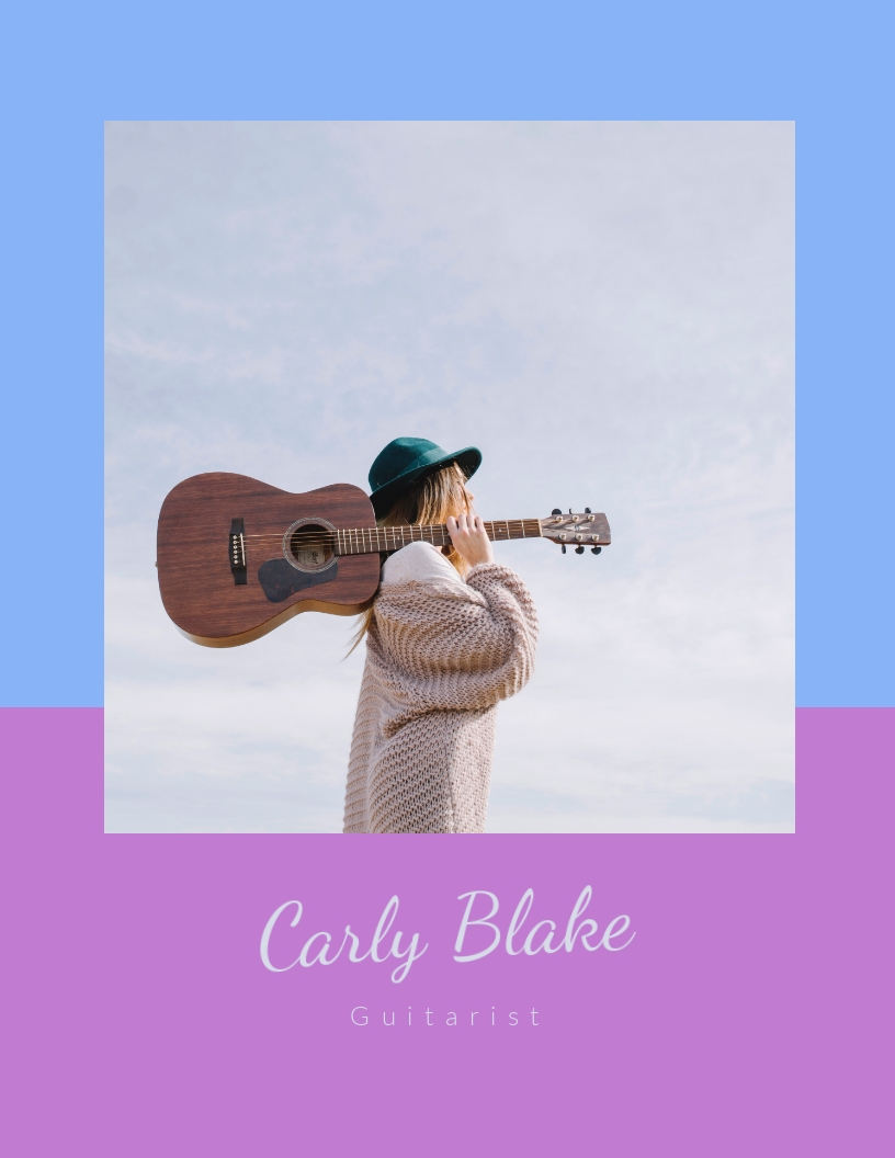 Guitarist Music - Press Kit Template