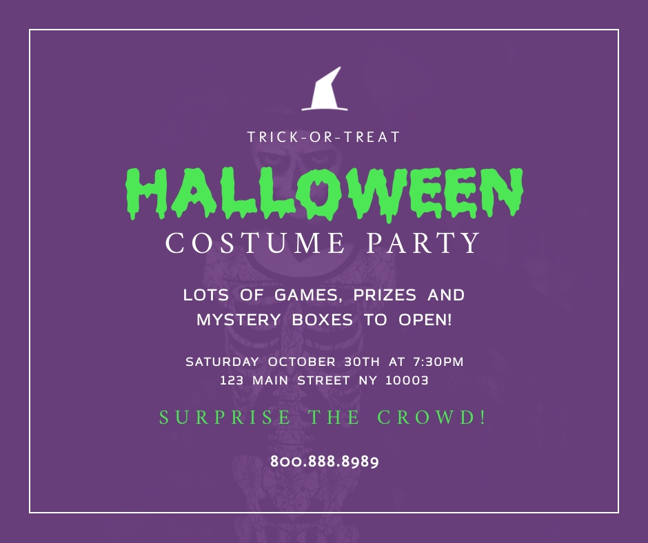 Halloween Costume Party Facebook Post Template