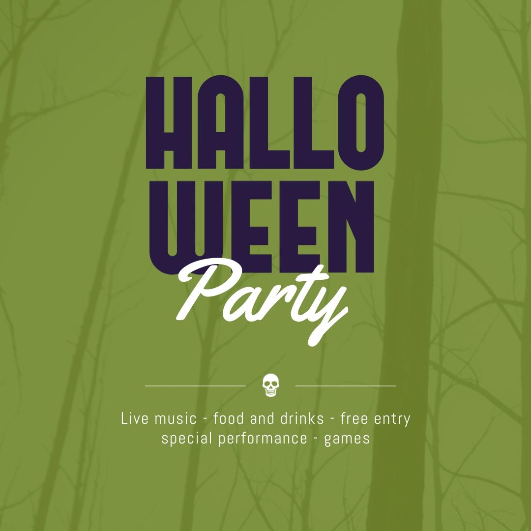 Halloween Party Skull Blog Graphic Medium Template
