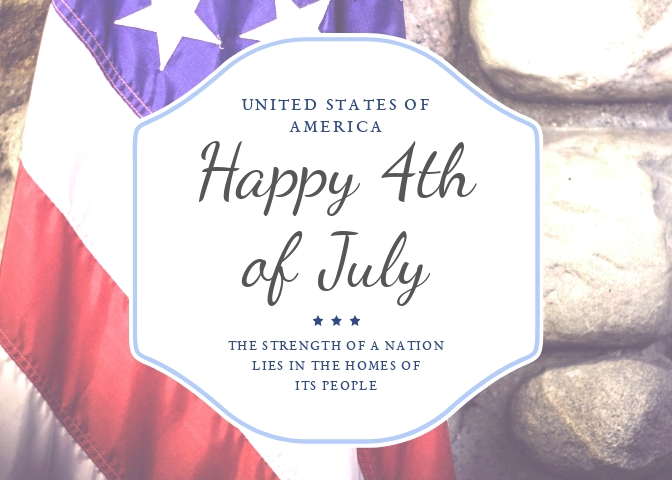 Happy 4th Greeting Card Template