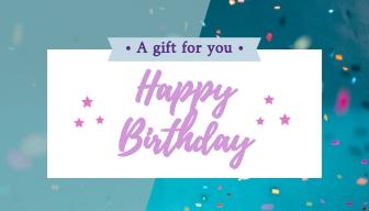 Happy Birthday Gift Card Template Visme
