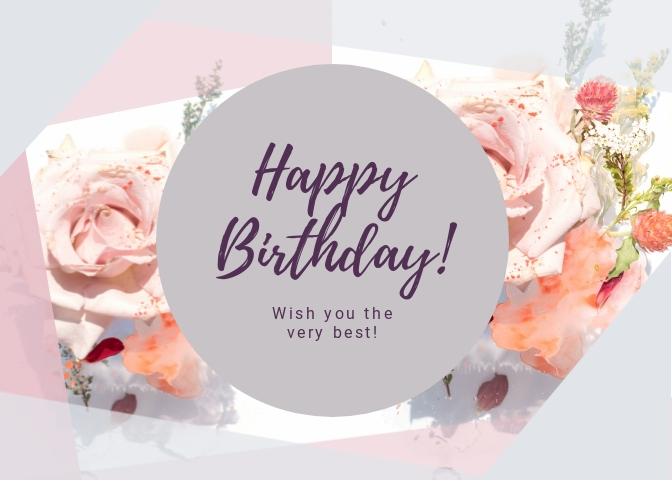 Happy Birthday Greeting Card Template Visme