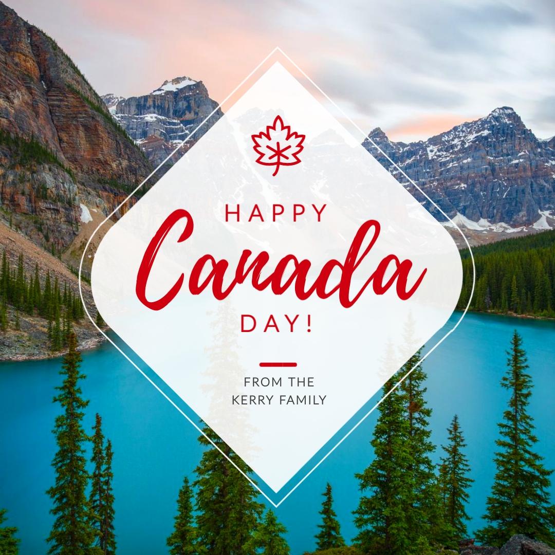 Happy Canada Landscape Animated Square Template