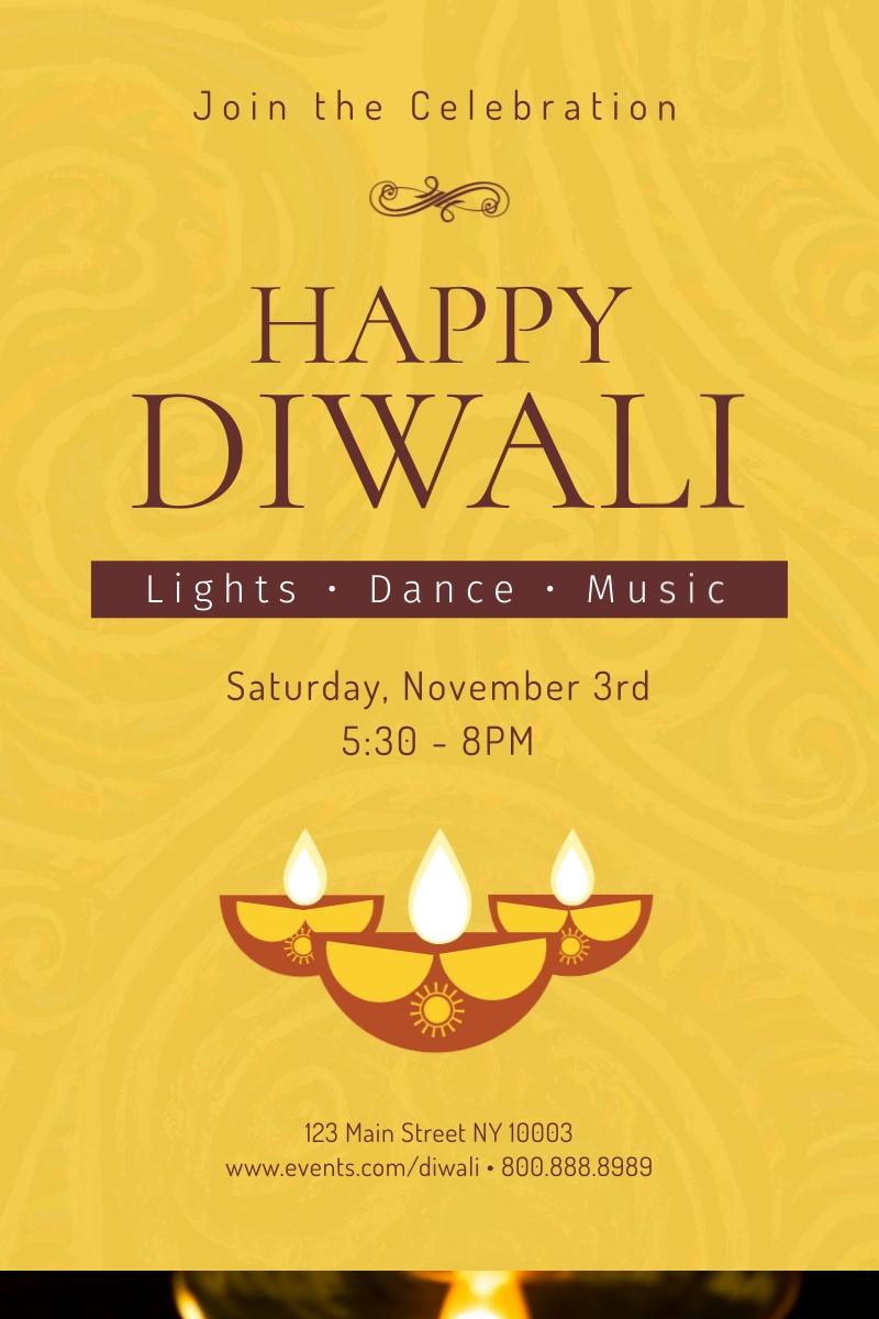 Happy Diwali Festival of Lights Blog Graphic Large Template