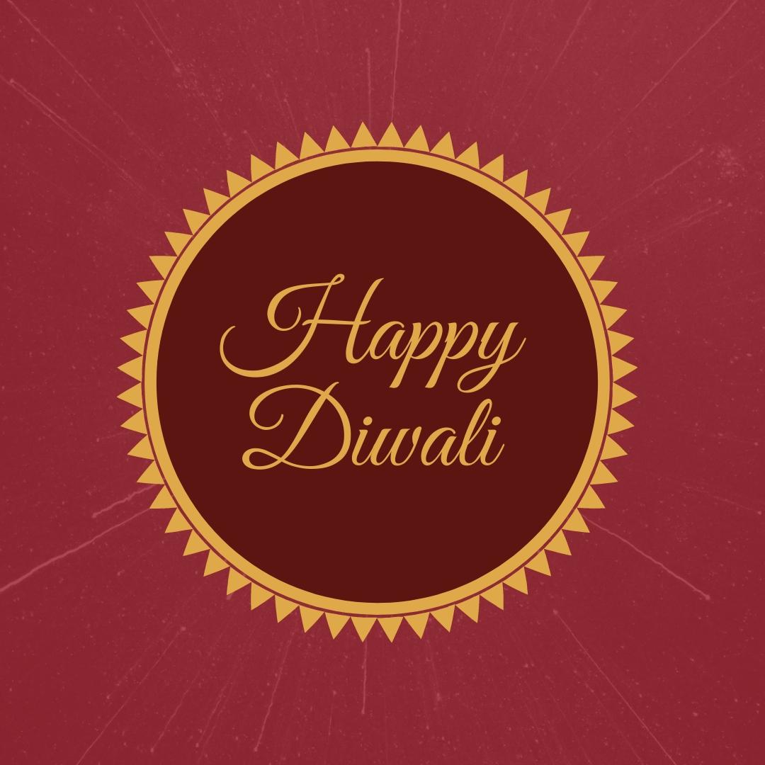 Happy Diwali Holiday Blog Graphic Medium Template