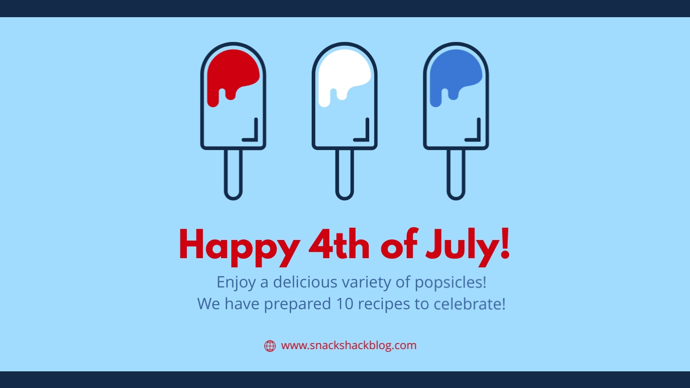 Happy Fourth Popsicles Animated Wide Template