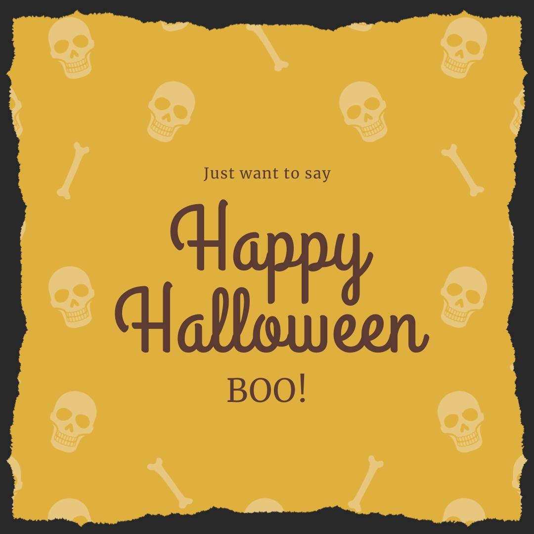 Happy Halloween Boo Instagram Post Template