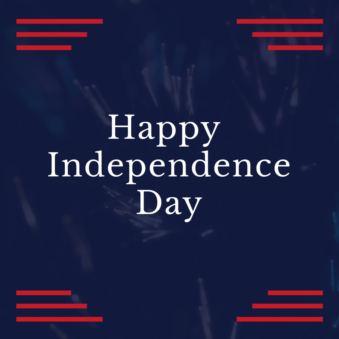 Happy Indepedence Day Blink Square Template