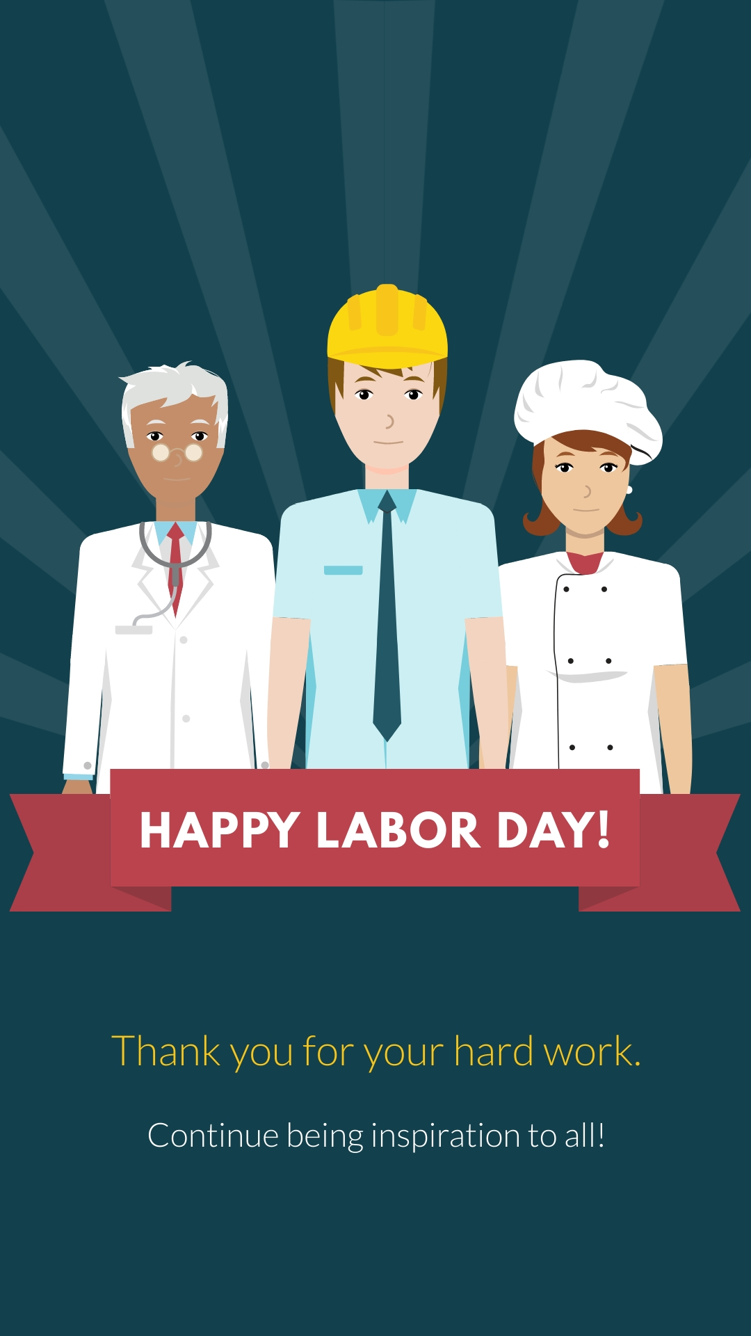 Happy Labor Day Animated Vertical Template