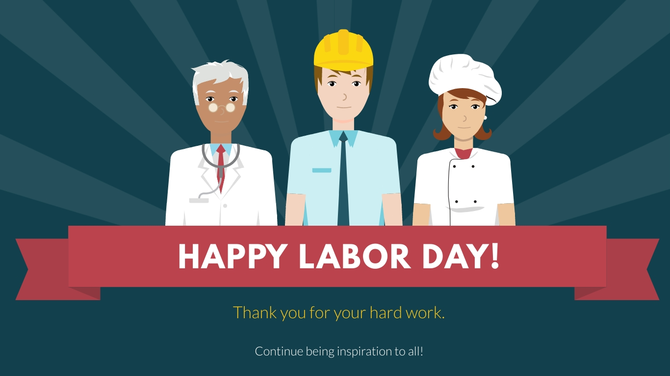 Happy Labor Day Animated Wide Template