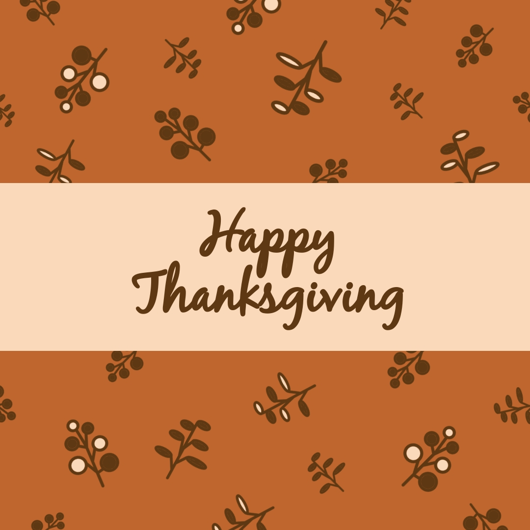 Happy Thanksgiving Branches Instagram Post Template