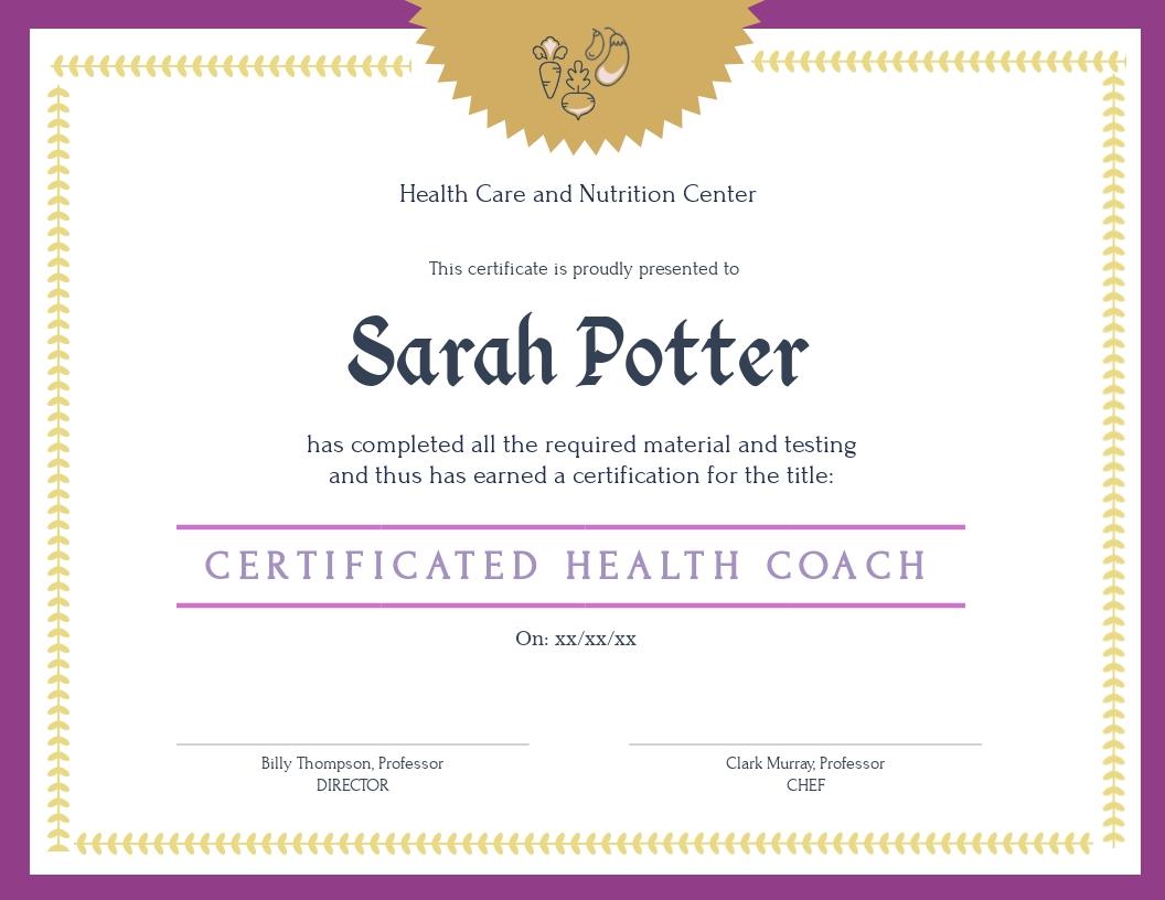 customize free certificate templates