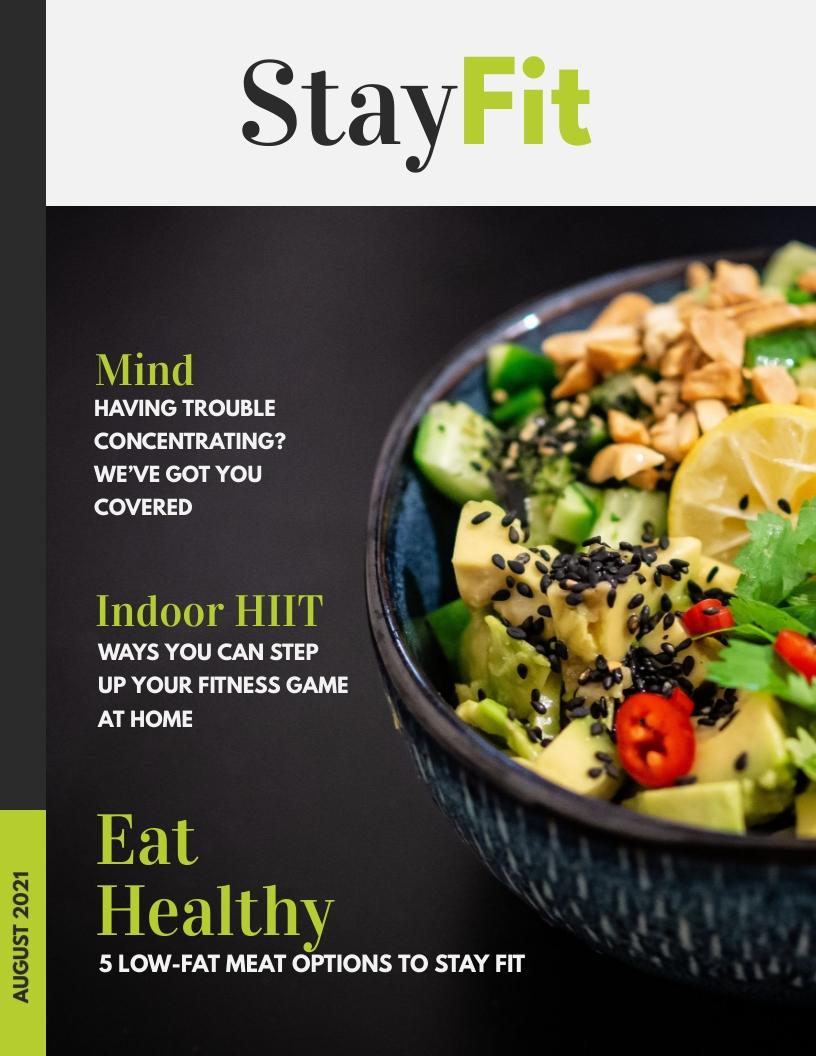 Health Magazine Template