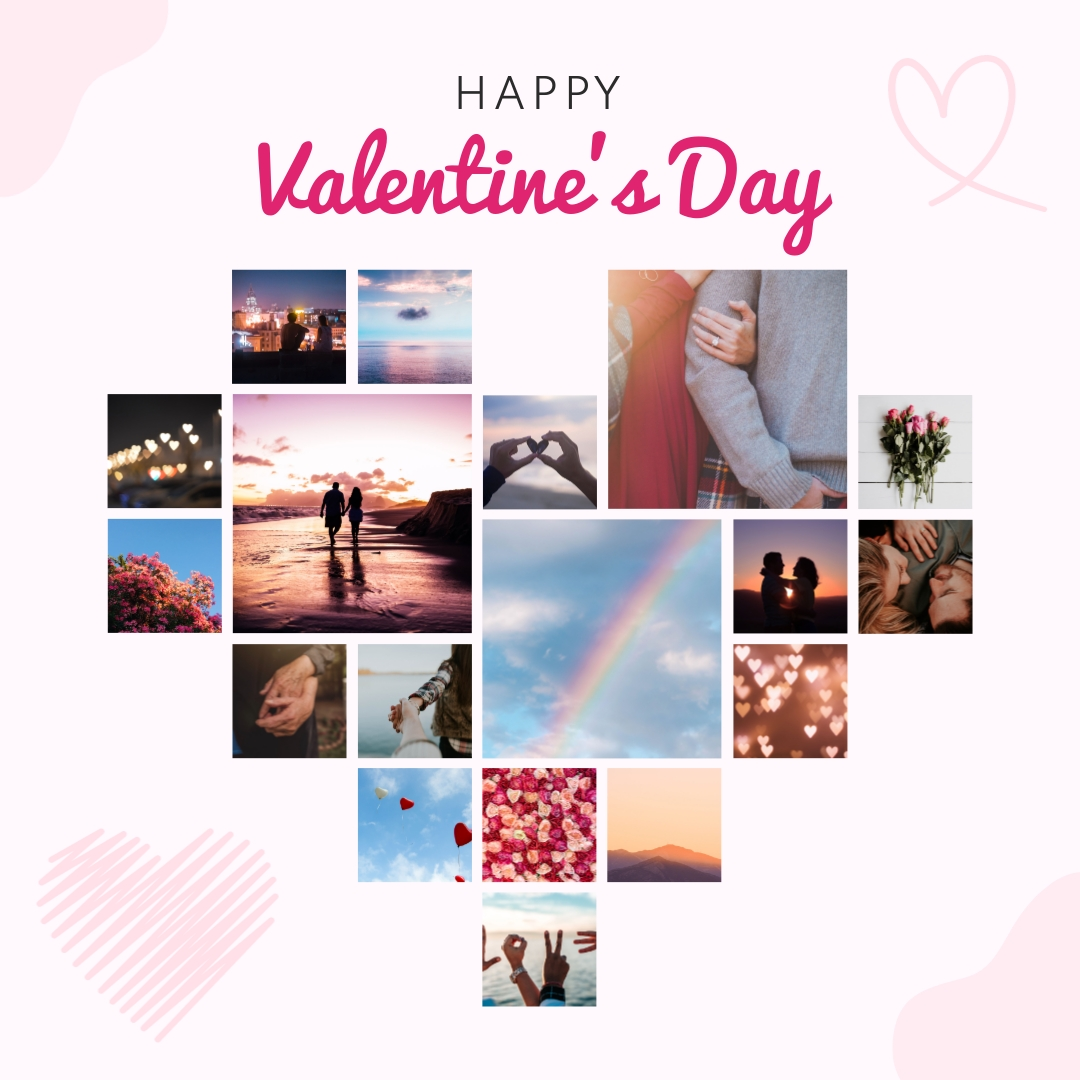 Heart Collage Template
