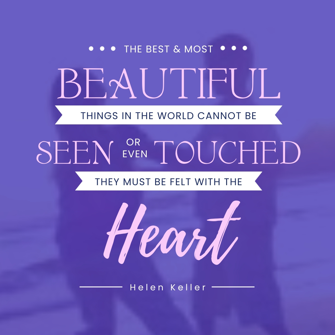 Helen Keller Animated Quote Square Template