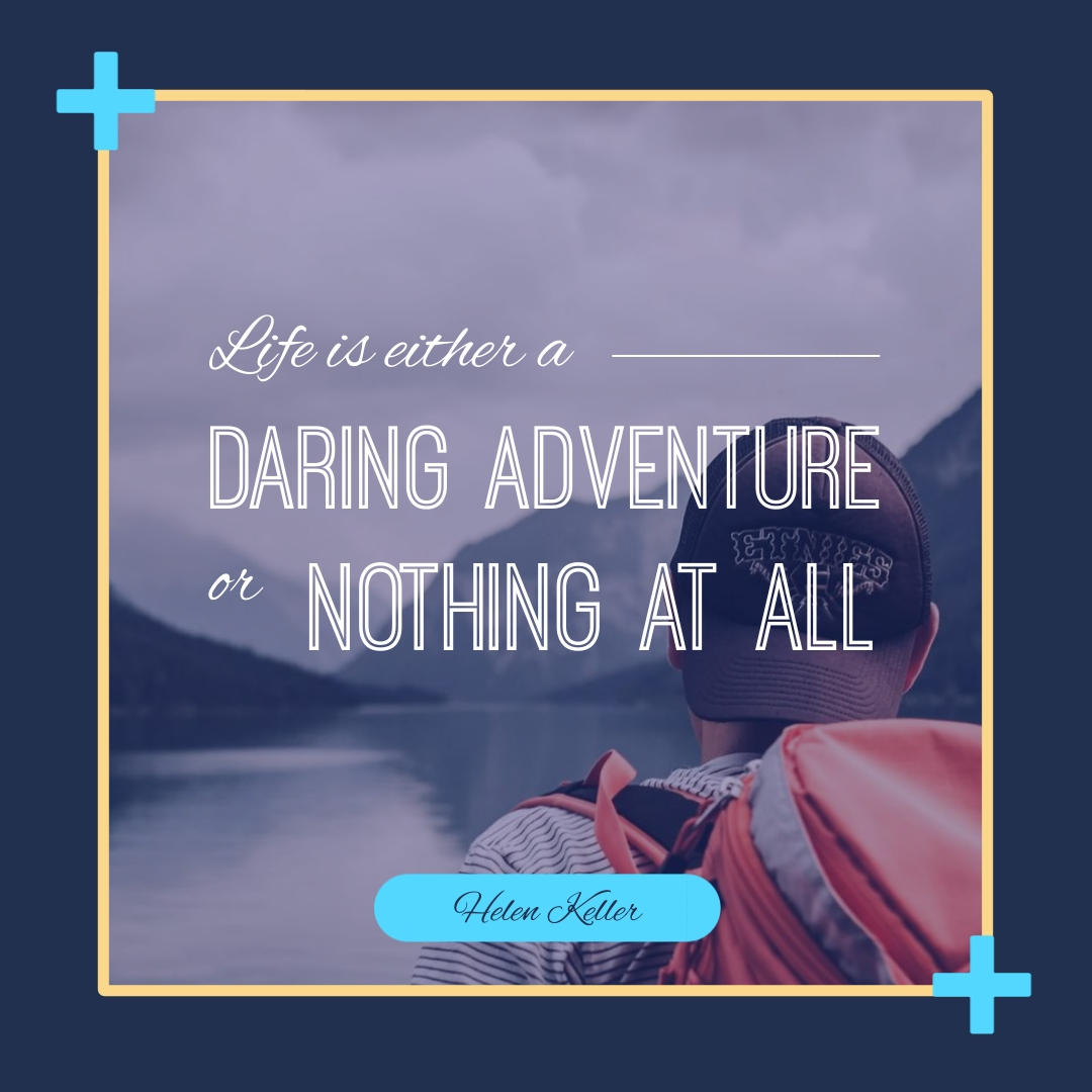 Helen Keller Inspirational Animated Quote Square Template