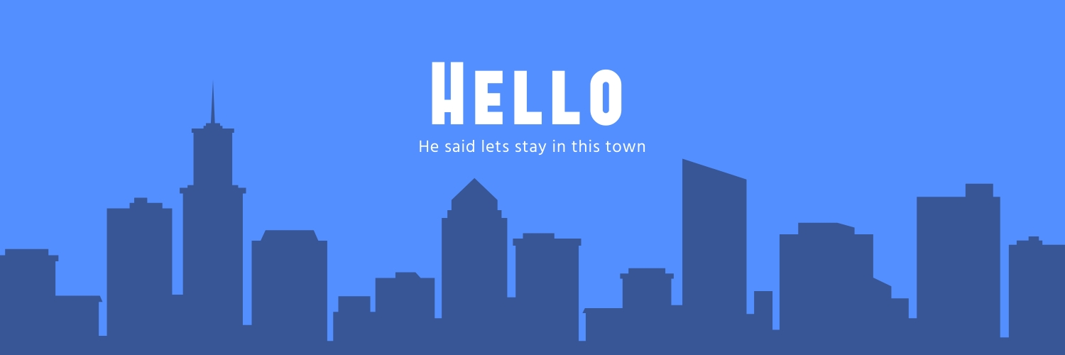 Hello to the City Twitter Header Template