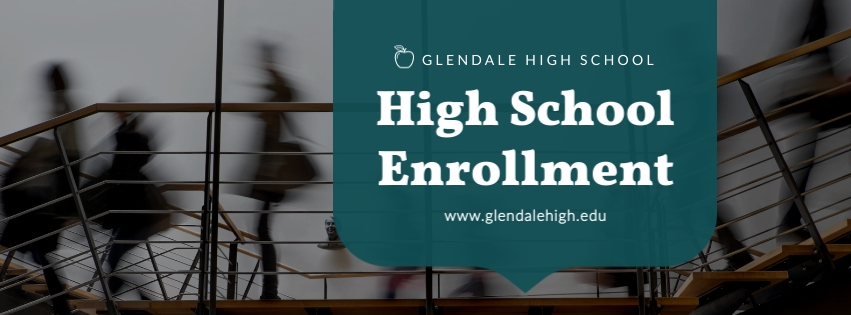 High School Enrollment Facebook Cover  Template