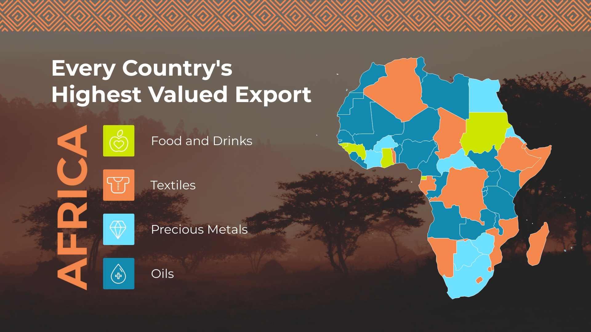 Highest Valued Export Map Template