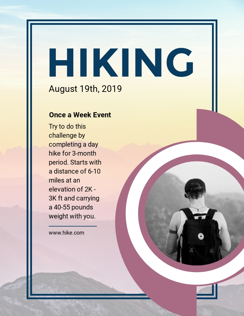 Hiking - Flyer Template