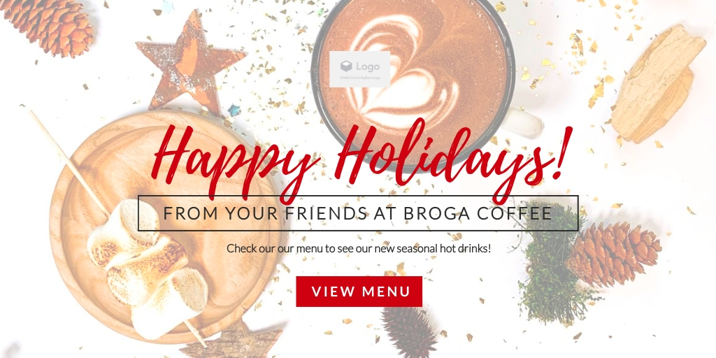 Holiday Coffee Shop - Website Header Template