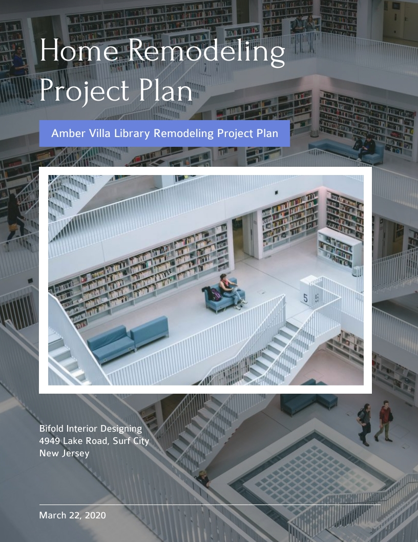 Home Remodeling - Project Plan Template