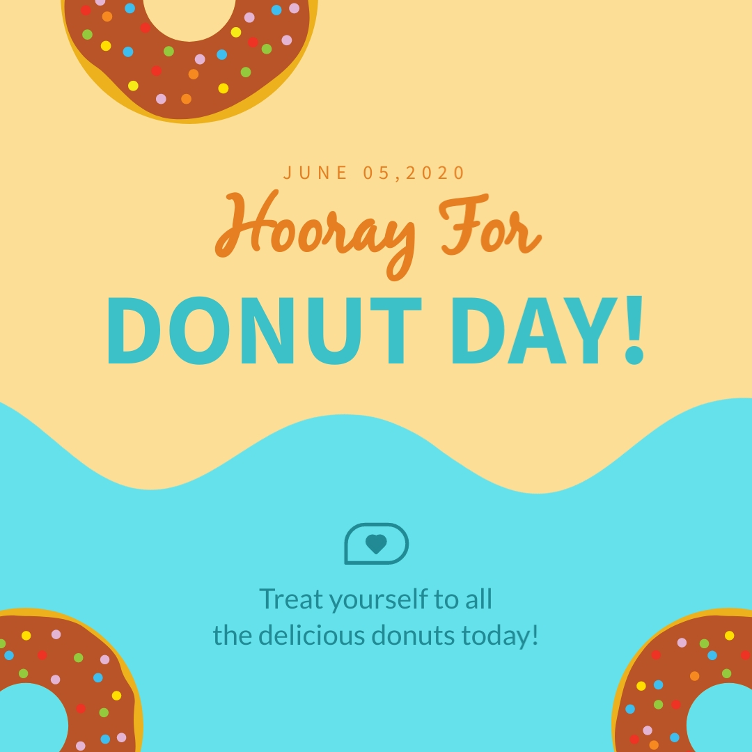 Hooray For Donut Day - Instagram Post Template