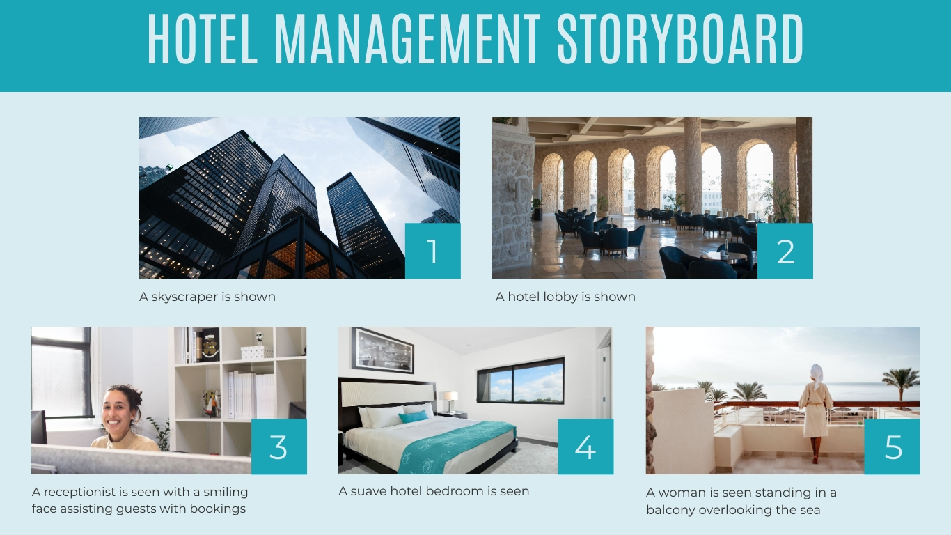Hotel Management Storyboard Template