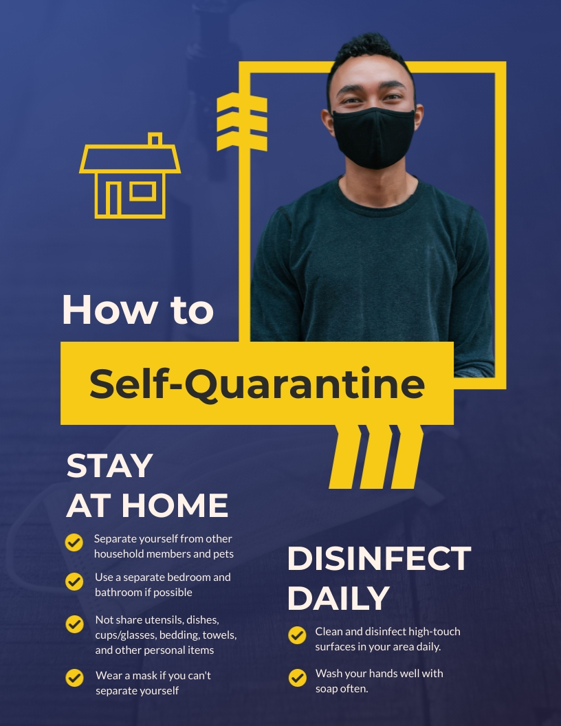 How to Self-Quarantine Flyer Template