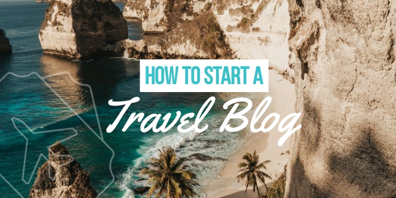 How to Start a Travel Blog Blog Graphic Header Template